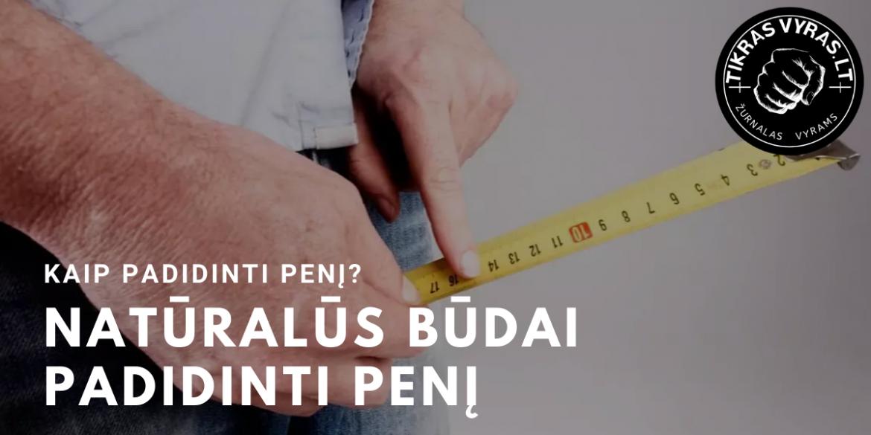 kaip padidinti varpą penkiais centimetrais skirtingų dydžių vyrų varpa